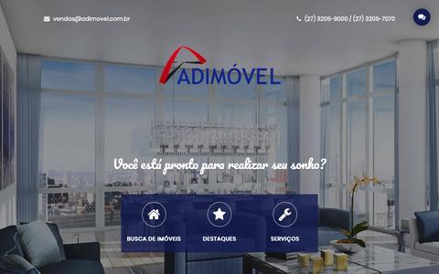 Screenshot of Home Page adimovel.com.br - Adimovel Imoveis - captured Dec. 18, 2018