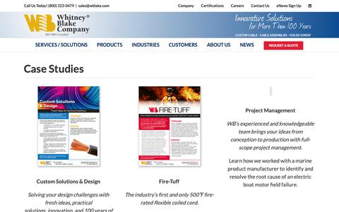 Screenshot of Case Studies Page wblake.com - Case Studies - Whitney Blake Company - captured Sept. 29, 2018