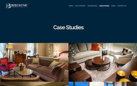 Screenshot of Case Studies Page biscaynehospitality.com - Case Studies – Biscayne Hospitality - captured Nov. 6, 2018