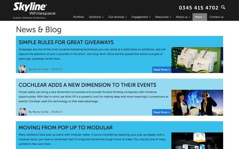 Screenshot of Blog skylinewhitespace.com - News & Blog - Skyline Whitespace - captured June 14, 2017