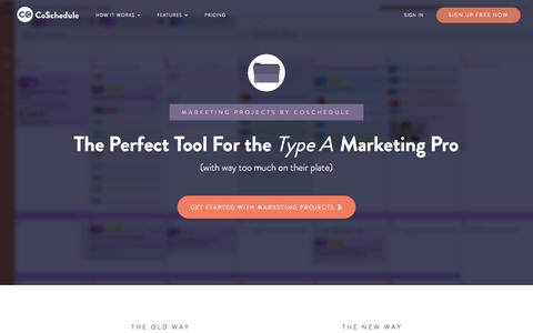 Marketing Projects by CoSchedule