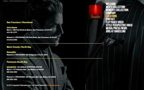 Screenshot of Locations Page barcelino.com - Locations - captured Sept. 30, 2014