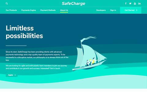 Screenshot of Jobs Page safecharge.com - Careers - SafeCharge - captured Sept. 13, 2018
