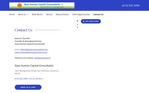 Screenshot of Contact Page gaiahumancapital.com - Renewable Energy Recruiters - Gaia Human Capital Consultants   Gaia Human Capital Consultants - captured Sept. 27, 2018