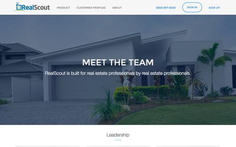 Screenshot of Team Page realscout.com - Team | RealScout - captured Dec. 4, 2015