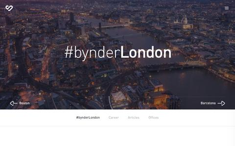 London | Offices | About us | Bynder