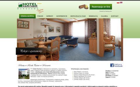 Screenshot of Home Page partnerhotel.pl - Hotel Partner *** Warszawa - captured Oct. 4, 2014