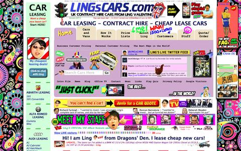Screenshot of Site Map Page lingscars.com - CAR LEASING MANCHESTER CHEAP CAR LEASING BIRMINGHAM LIVERPOOL GLASGOW - captured Jan. 18, 2016