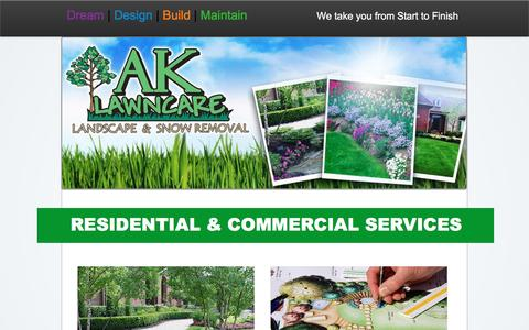 Screenshot of Services Page ak-lawncare.com - AK Lawn Care, Landscape Services Milan MI - captured Nov. 19, 2016