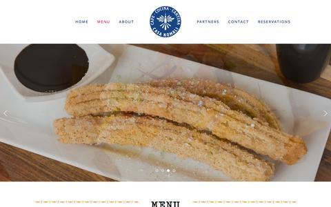 Screenshot of Menu Page komalirestaurant.com - Menu — Casa Komali Restaurant - captured Sept. 20, 2018