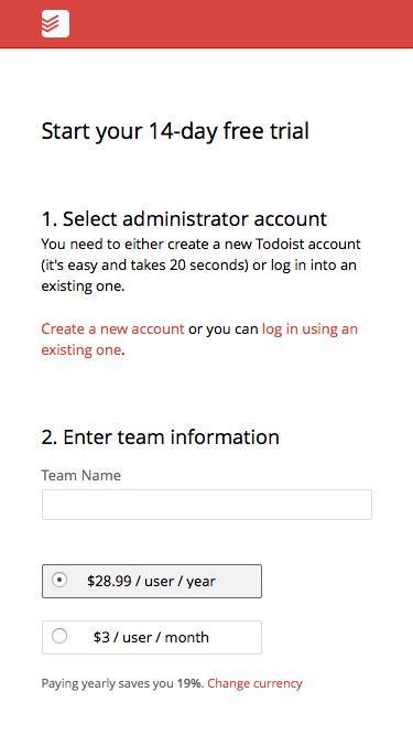 Todoist Business - Start free trial