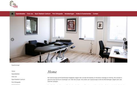 Screenshot of Home Page fysioconcept.nl - FysioConcept | Sport Medisch Centrum - captured Jan. 8, 2016
