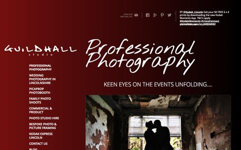 Screenshot of Home Page guildhallstudio.co.uk - Guildhall Studio- Professional Photography Services in the heart of Lincoln - captured Sept. 16, 2015