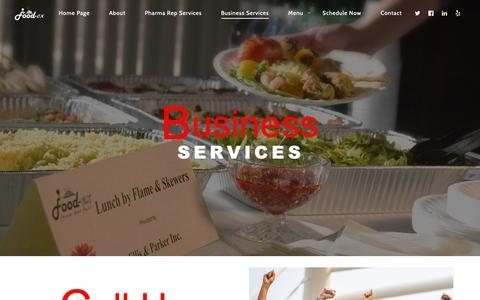 Screenshot of Services Page food-ex.com - Business Services - Food-Ex - captured Dec. 10, 2018