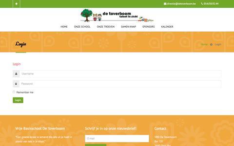 Screenshot of Login Page detoverboom.be - Login - captured Oct. 22, 2018