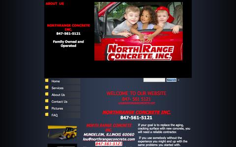 Screenshot of About Page northrangeconcrete.com - Lake County Concrete Contractor  Oncrete Driveways, North Range Concrete Inc Mundelein, IL About Us - captured Oct. 26, 2014