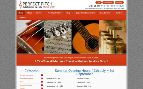 Screenshot of Login Page perfectpitch.co.uk - Home - Perfect PitchPerfect Pitch - captured July 20, 2015