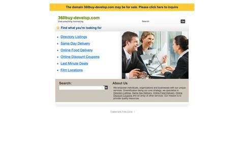 Screenshot of Home Page 360buy-develop.com - 360buy-develop.com - captured Dec. 20, 2018
