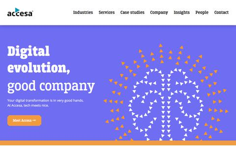 Screenshot of Home Page accesa.eu - Accesa - captured July 13, 2019