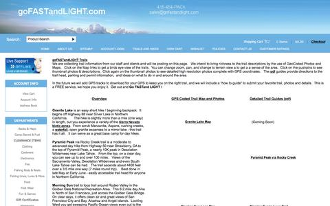 Screenshot of Testimonials Page gofastandlight.com - Backpack and Hike Trail Maps in California - captured Jan. 24, 2016
