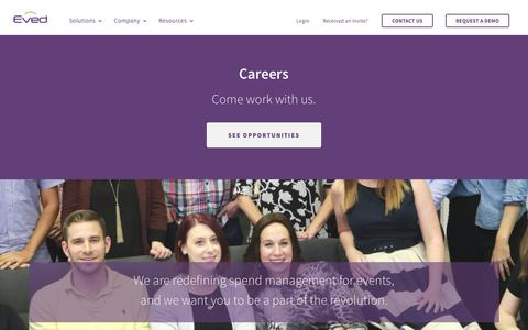 Screenshot of Jobs Page eved.com - Careers - Eved - captured March 9, 2018