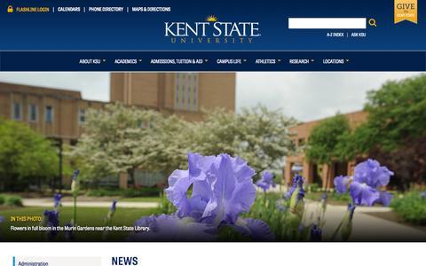 Screenshot of Press Page kent.edu - News | Kent State University - captured Sept. 22, 2014