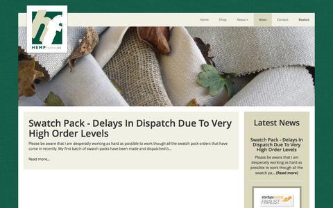 Screenshot of Press Page hempfabric.co.uk captured Nov. 7, 2016