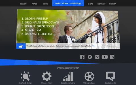 Screenshot of Home Page moraviamedia.cz - Moravia Media production - captured Feb. 14, 2016