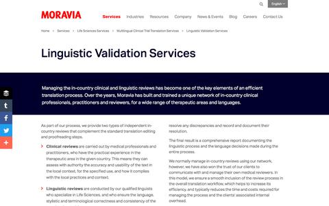 Linguistic Validation Services - Moravia