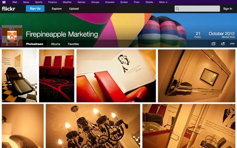 Screenshot of Flickr Page flickr.com - Flickr: Firepineapple Marketing's Photostream - captured Oct. 23, 2014
