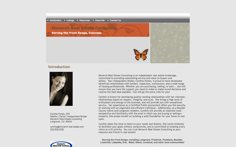 Screenshot of Home Page monarch-real-estate.com - Monarch Real Estate Consulting - captured Oct. 6, 2014