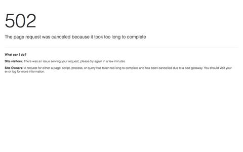 Error Loading Site | 502 Bad Gateway