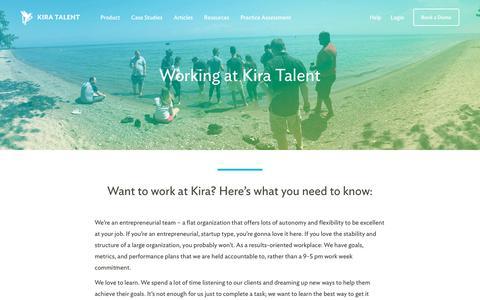 Screenshot of Jobs Page kiratalent.com - Careers - Kira Talent - captured Nov. 9, 2017