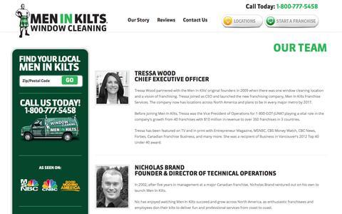 Screenshot of Team Page meninkilts.com - Our Team | Window & Gutter Cleaning | Men In Kilts ®Men In Kilts ® - captured Oct. 27, 2014