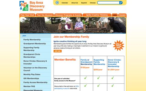 Screenshot of Signup Page baykidsmuseum.org - Become a Member | Bay Area Discovery Museum - captured Sept. 24, 2014