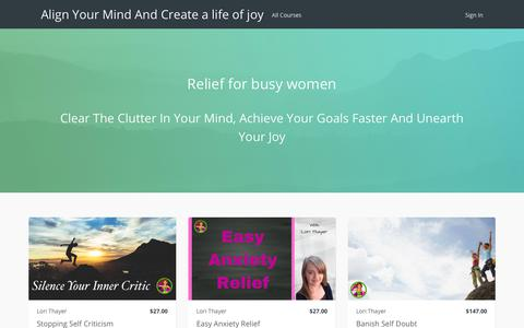 Screenshot of Products Page thinkific.com - Align Your Mind And Create a life of joy - captured June 27, 2017