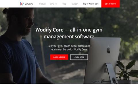 Screenshot of Home Page Products Page wodify.com - Fitness & Gym Management Software & Apps | Wodify Technologies - captured Jan. 3, 2018