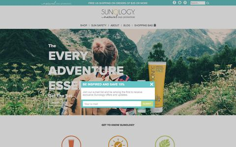Screenshot of Home Page sunology.com - Natural Sunscreen | Sunology - captured Nov. 28, 2016