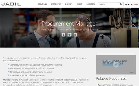 Screenshot of jabil.com - Procurement Management   Jabil - captured May 26, 2017