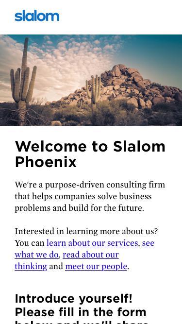 Slalom Phoenix Thought Leadership