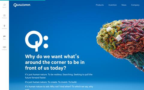 Screenshot of Home Page qualcomm.com - Wireless Technology & Innovation | Mobile Technology | Qualcomm - captured Oct. 1, 2015