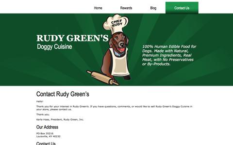 Screenshot of Contact Page rudygreens.com - Contact Us | RUDY GREEN'S - captured Oct. 23, 2017