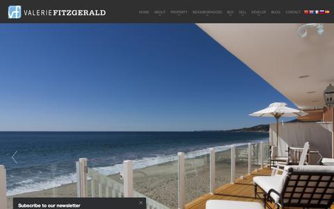 Screenshot of Home Page valeriefitzgerald.com - Beverly Hills & Los Angeles Luxury Homes & Real Estate | Valerie Fitzgerald - captured Feb. 23, 2016