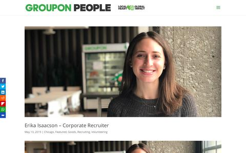Screenshot of Team Page groupon.com - Team Archives - Groupon People - captured May 28, 2019