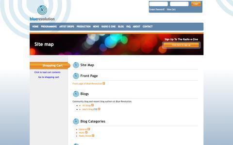 Screenshot of Site Map Page bluerevolution.com - Site map - captured Nov. 6, 2018
