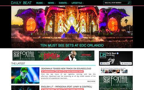 Screenshot of Home Page daily-beat.com - Daily Beat - captured Nov. 10, 2015