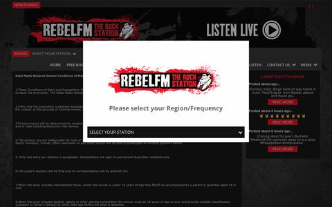 Screenshot of Privacy Page Terms Page rebelfm.com.au - Rebel FM - captured Oct. 19, 2018
