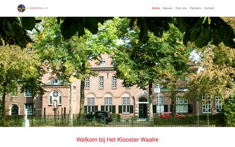 Screenshot of Home Page hetkloosterwaalre.nl - Home - Future Klooster - captured Nov. 5, 2018
