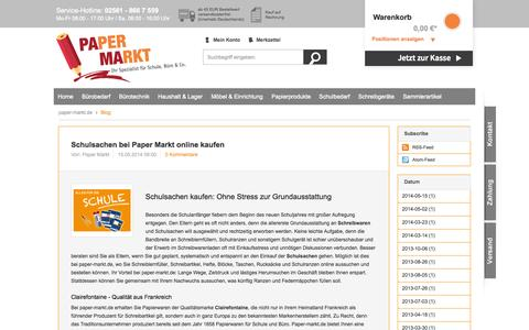 Screenshot of Blog paper-markt.de - Blog | paper-markt.de - captured Nov. 4, 2014