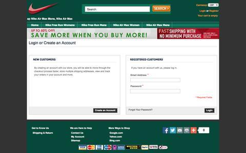 Screenshot of Login Page predatorworld.co.uk - Customer Login - captured Nov. 2, 2014